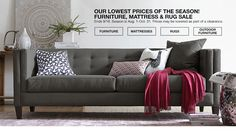 our lowest prices of the season! furniture, mattress and rug sale. ends september 16th. season is august 1st to october 31st. prices may be lowered as part of clearance.