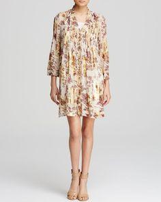 Diane von Furstenberg Dress - Layla Floral Metallic Silk