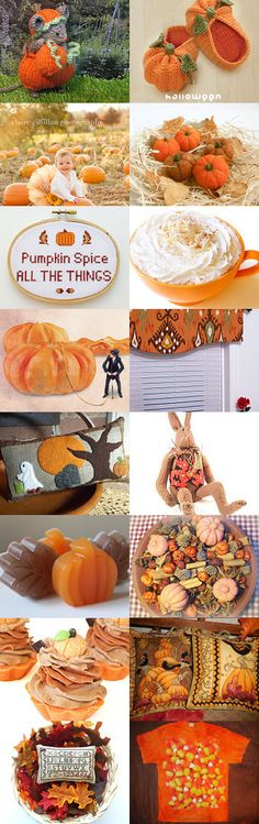 Pumpkin Spice by Charlotte Colistro Brown on Etsy with kittying.com product included --Pinned with TreasuryPin.com