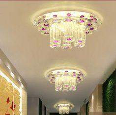Pas cher 5 w LED modernes salon cristal abat   jour AC85 265V couloir LED lampes abajur luminaria, Acheter  Plafonniers de qualité directement des fournisseurs de Chine:5 w LED modernes salon cristal abat - jour AC85-265V couloir LED lampes abajur luminaria