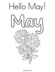 hello may coloring page - May Coloring Pages