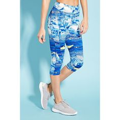 Forever 21 Women's  Active Capri Leggings ($20) ❤ liked on Polyvore featuring activewear, activewear pants, athletic sportswear, forever 21 and forever 21 activewear