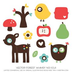 Vector Forest Whimsy No1 {CU}