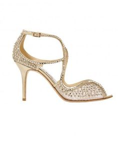 """Jimmy Choo's sparkly """"Fane"""" sandals"""