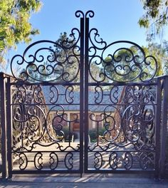Iron Gates wrought iron hand-forged entry gate. by Rustic101SD