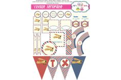 VINTAGE AEROPLANE by iCandy Party Printables on hellopretty.co.za