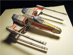 if I had more time, I'd TOTALLY be doing this...  Blog Paper Toy papertoy X Wing Fighter pic Star Wars X Wing papertoy