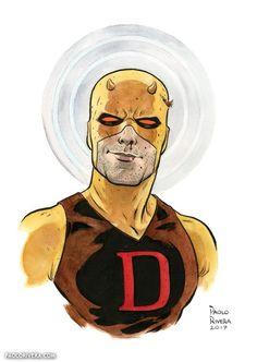 Daredevil (Matt Murdock) by Paolo Rivera. Marvel Art, Illustrators, Marvel Artwork, Comic Art, Comic Book Heroes, Drawings, Marvel Knights, Punisher, Art