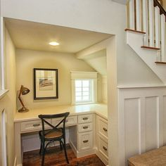 Desk Under Stairs Home Design Ideas, Pictures, Remodel and Decor More