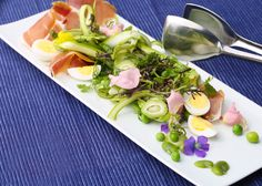 Spring Salad with Green Almonds and Serrano Ham