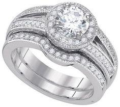 1 1/3CTW-Diamond 1 CTW-CRD BRIDAL SET
