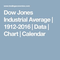 Dow Jones Industrial Average | 1912-2016 | Data | Chart | Calendar
