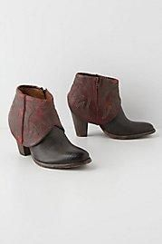 Anthropologie Slouched Rojo Cowboy Boots by Catarina Martins Black 41 EURO Women's Shoes