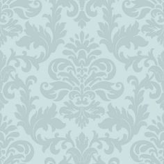Rasch Glitter Damask Wallpaper - Duck Egg at Homebase -- Be inspired and make your house a home. Buy now.