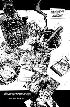 Hitman 1 by urban-barbarian on DeviantArt Art Sketches, Art Drawings, Comic Layout, Graphic Novel Art, Comic Manga, Arte Obscura, Bd Comics, Comic Panels, Black And White Illustration