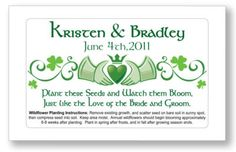 Irish Claddagh Heart Wedding or Bridal Shower Favors Seed Packets Personalized Irish Wedding Traditions, Shower Tips, Shower Ideas, Wedding Advice, Wedding Ideas, Wedding Stuff, Dream Wedding, Celtic Wedding, Seed Packets