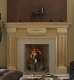 The Beaumont Wood Fireplace Mantel can be easily painted or stained into any color of your choosing. http://www.mantelsdirect.com/mantel-blog/Product-Highlight-The-Prestige-Wood-Fireplace-Mantel-Collection