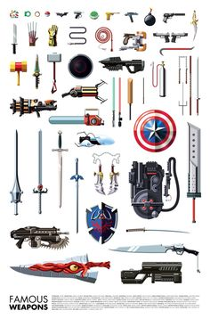 Illustrated Collection of Famous Movie, TV, Comic and Gaming Weapons