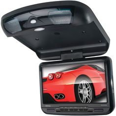 """Boss Audio Bv90Ba 9"""" Widescreen Ceiling-Mount Monitor With Built-In Dvd Player & Ir Transmitter"""