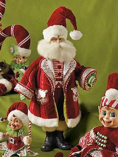 Whimsical and beautiful, the Sweet Stripes Santa Doll is a cheerful piece that's sure to leave smiles on the faces of your guests.