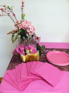 Pink camo baby shower