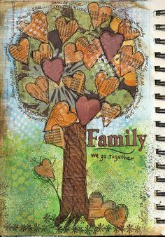 Beautiful Art Journal Page that reminds me of a Carey-led project!?!