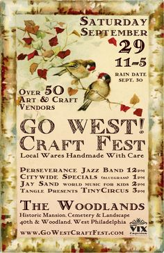 GO WEST! Craft Fest event poster