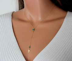 hamsa necklace gold filled rosary style by divinitycollection