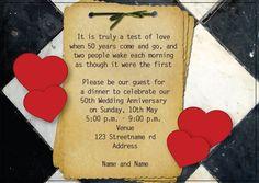AI_014 Anniversary Invitations, 50th Wedding Anniversary, Invite, Monkey, Playsuit, Birthday Invitations, Golden Anniversary, Monkeys