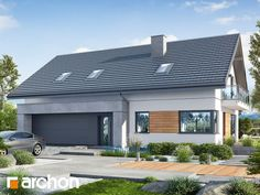 Dom w aurorach 7 4 Bedroom House Designs, Exterior Design, Bungalow, House Plans, Sweet Home, Home And Garden, Inspiration, How To Plan, Building