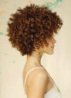 natural black, kinky curly | Black women like to carry short haircuts with curly hairstyles. These ... http://huensha.com/