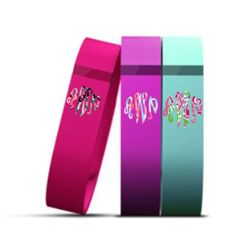 Lily Pulitzer monogram decal for Fitbit Flex
