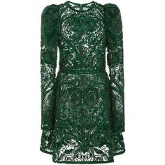 Elie Saab     Beaded Embellished Mini Dress (140.467.720 IDR) ❤ liked on Polyvore featuring dresses, elie saab, mini dresses, vestidos, green, green cocktail dress, mini dress, short green dress, short green cocktail dress and green beaded dress