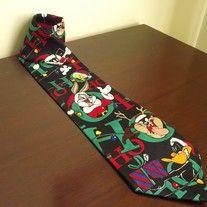 Mens Christmas Tie, Looney Tunes Cartoon Novelty Tie, Bugs Bunny Tweety Tasmanian Devil Necktie #tasmanian #devil #necktie #looneytunes #looney #tunes #funny #tie #holiday #christmas