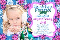 FROZEN FEVER INVITATION, Frozen Fever, Frozen Invitation, Birthday Invitation, Printable, Frozen Fever, Frozen Fever Photo Invite, Birthday by MyPrintableParty on Etsy