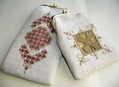 hilo刺繍教室 - Gallery Hardanger Embroidery, Embroidery Stitches, Bargello, Handmade Bags, Small Gifts, Hand Stitching, Purses And Bags, Needlework, Coin Purse