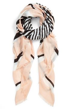 Vince Camuto Stripe Oversized Wrap available at #Nordstrom. There's also a neat video on scarf wrapping ideas