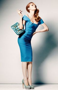 Coco Rocha in a gorgeous blue dress