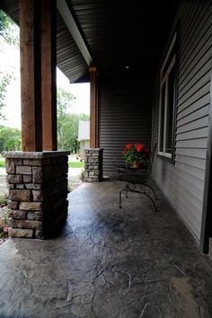 Stamped concrete - I like the more natural look of this style - Gardening For You