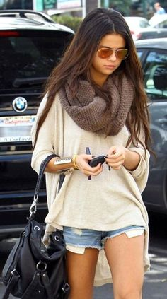 Selena Gomez going to work