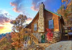 """Cabin called """"Serendipity."""" Perhaps the most perfect romantic getaway cabin in the Smoky Mountains, an ideal honeymoon cabin. Secluded, gorgeous mountain views, private walking trail, hot tub on private deck, jacuzzi indoors, fireplace for snuggling, packed with amenities for easy living."""