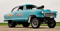 This Nickey Performance 1955 Nash is the wildest you've ever seen — gasser style! 1957 Chevy Bel Air, 1955 Chevy, Old Race Cars, Old Cars, Speedway Racing, American Motors, Drag Cars, Drag Racing, Vintage Cars