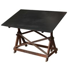 Beautiful black drafting table at 1stdibs...love the classic strength of this piece.