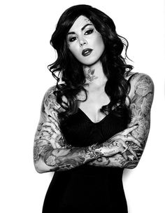 Kat Von D  #tattoos #photography