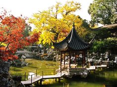 Dotted with lakes and ponds, the Humble Administrator's Garden is one of the most famous in all of China. #Suzhou #gardens #China