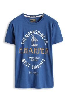Esprit : T-shirt jersey flammé imprimé, 100 % coton à acheter sur la Boutique en ligne
