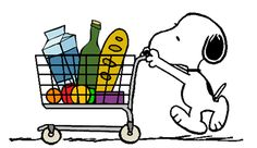Snoopy Grocery Shopping