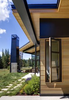 Mountain modern- note simple trim detail on windows and how all corners are finished in metal