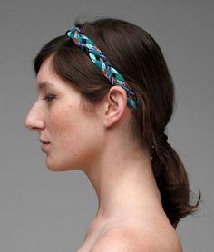 braided tshirt headband. lovely.
