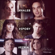 Ashley Benson, Tyler Blackburn, Troian Bellisario, Keegan Allen, Ian Harding, & Lucy Hale #Haleb #Spoby #Ezria Pretty Little Liars Seasons, Pretty Little Lisrs, Pretty Little Liars Spoilers, Ashley Benson And Tyler Blackburn, Ship Names, Troian Bellisario, Pll Memes, Pll Quotes, Liars Quotes